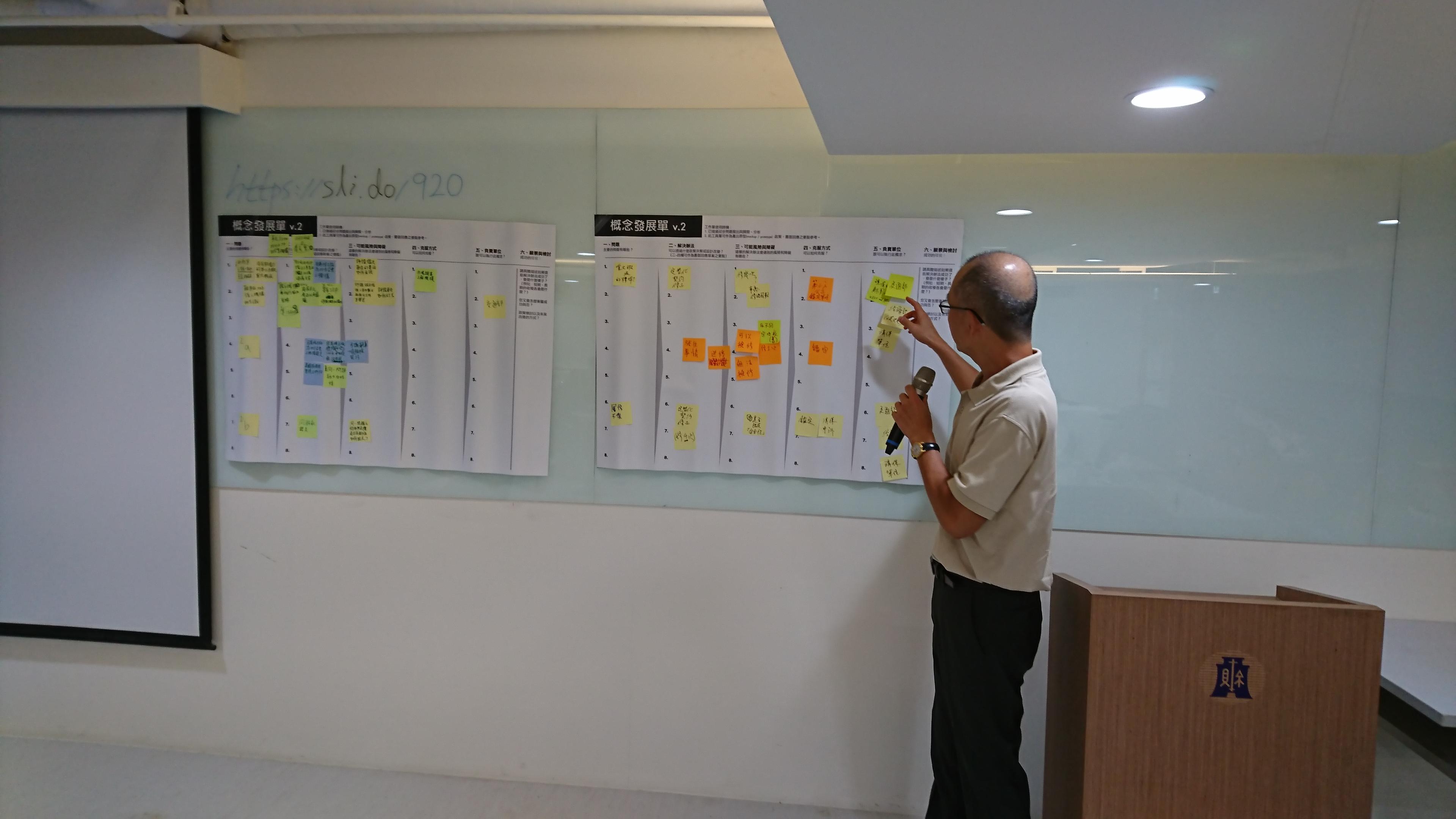 小組討論後,參與民眾報告成果